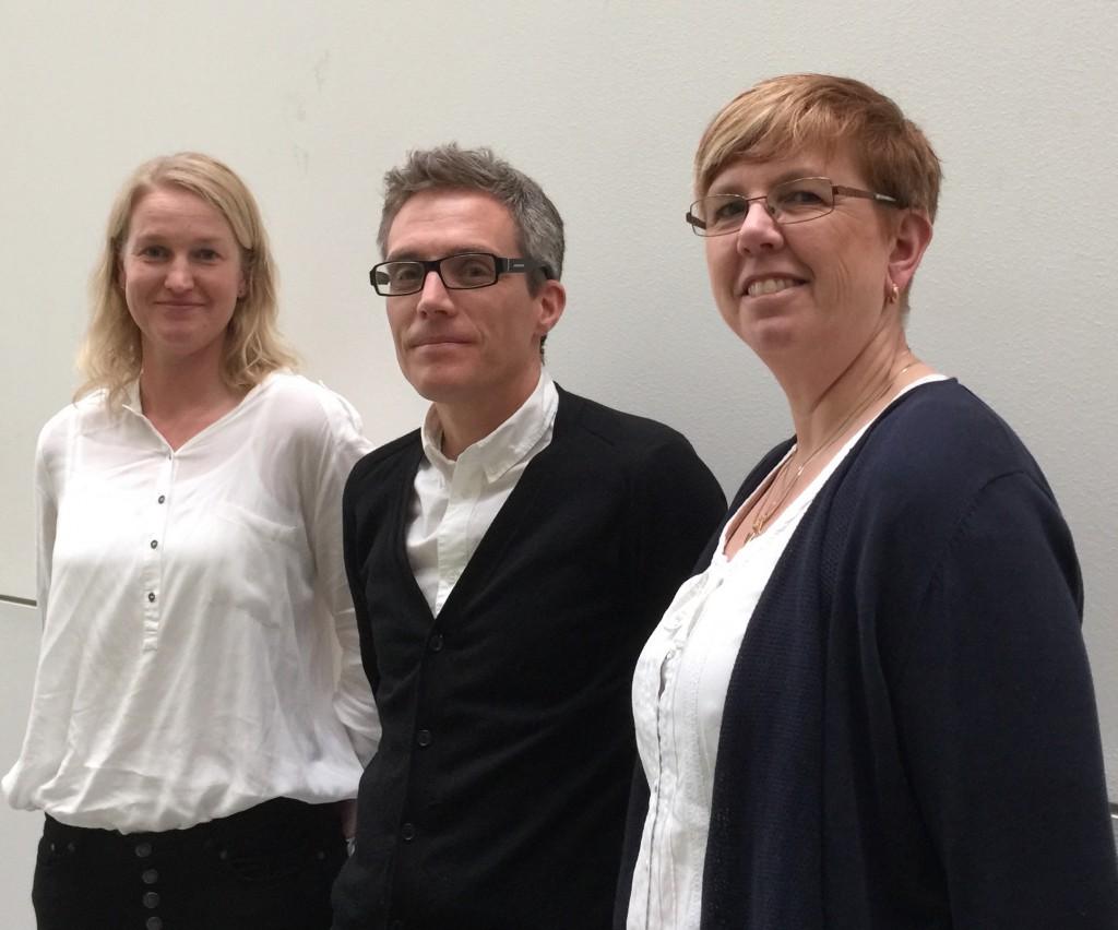 Mästarlärarna Katarina Maiqvist (2016-2018), Fredrik Olofsson (2015-2017) och Viveca Johansson (2014-2016)